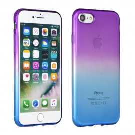 Capa de Gel Forcell OMBRE Para iPhone X - Roxo / Azul