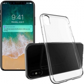 Capa de Gel Transparente Para iPhone X - Transparente