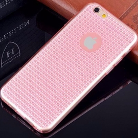 Capa Gel Transparente Com Brilho Para iPhone 7 - Rosa