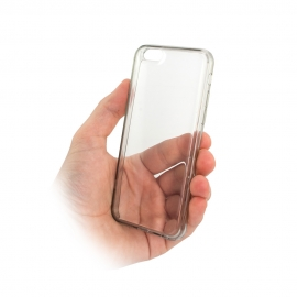 Capa Anti Gravidade [Como Ventosa] Para iPhone 8 Plus - Transparente / Preto