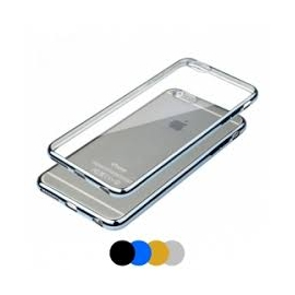 Capa Gel Transparente Com Rebordos Coloridos Para iPhone 7