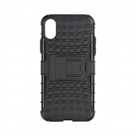 Capa Hibrida Rígida Anti Choque Para iPhone X - Preto