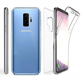 Capa Full Cover 360º Transparente em Gel / TPU Para Samsung Galaxy S9 Plus - Transparente