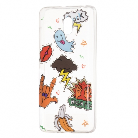 "Capa de Gel ""Rock , Hi Five"" Para Samsung Galaxy J3 2017"