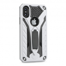 Capa Anti Choque PHANTOM Com Suporte Videos Para iPhone 6 Plus / 6S Plus - Prateado