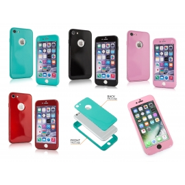 "Capa Full Cover em TPU / Gel ""Shine"" Para iPhone 5, 5S e SE"