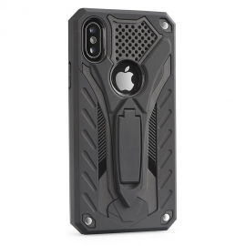 Capa Anti Choque PHANTOM Com Suporte Videos Para iPhone XS Max - Preto
