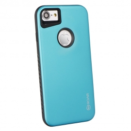 "Capa Anti Choque ""Roar Rico Armor"" Para iPhone 8 Plus - Azul Claro"