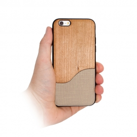 "Capa ""Wood"" Para iPhone 8 - Bege"