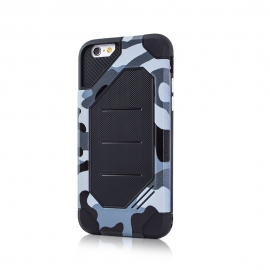 Capa Anti Choque Defender Army Para iPhone 8 Plus - Cinza