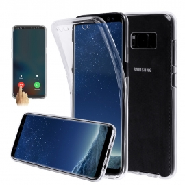 Capa Full Cover 360º Transparente em Gel / TPU Para Samsung Galaxy S7 Edge - Transparente