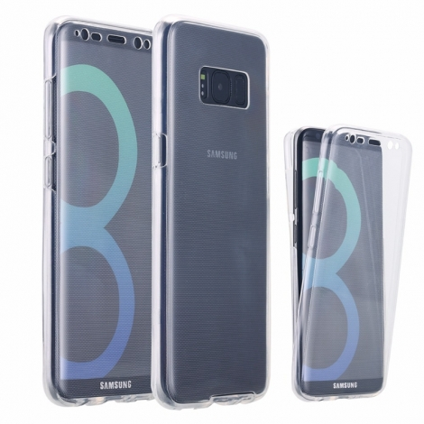 Capa Full Cover 360º Transparente em Gel / TPU Para Samsung Galaxy S8 Plus