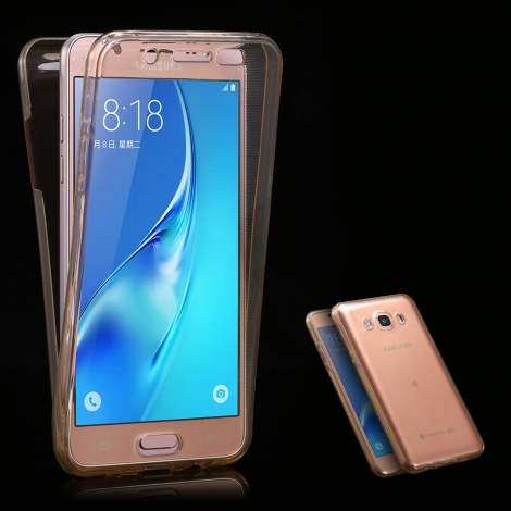 Capa Full Cover 360º Transparente em Gel / TPU Para Samsung Galaxy Grand Prime