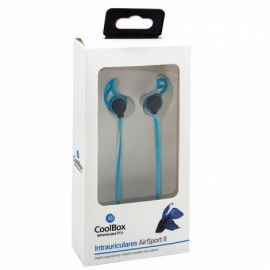 Auriculares 3,5 mm Stereo Desportivos CoolBox Airsport