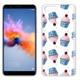 Capa Huawei Honor 7X Clear Cup Cakes