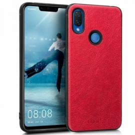 Capa Huawei P Smart Plus Leather Pele Vermelha
