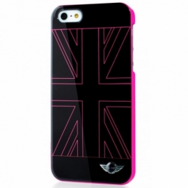 Capa iPhone 5 / 5s / SE Licença Mini Cooper UK Rosa