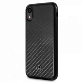 Capa iPhone XR Licença Mercedes-Benz Carbono Preto