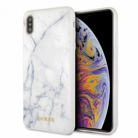 Capa iPhone XS Max Licença Guess Marmore Branco