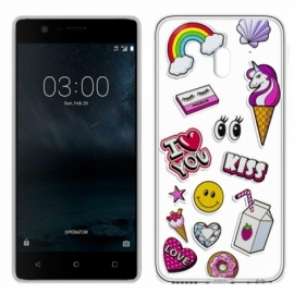 Capa Nokia 3 Clear Kiss