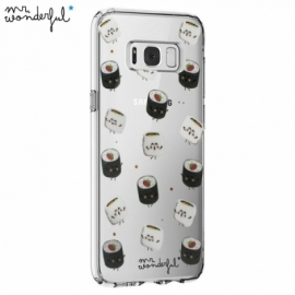 Capa Samsung G950 Galaxy S8 Licença Mr Wonderful Sushi Transparente