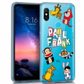 Capa Xiaomi Redmi Note 6 Pro Licença Paul Frank Animals