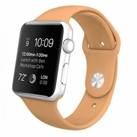 Correia Apple Watch Series 1 / 2 / 3 / 4 (42 / 44 mm) Goma Beige