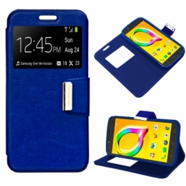 Bolsa Flip Cover Alcatel A5 Led Liso Azul