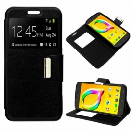 Bolsa Flip Cover Alcatel A5 Led Liso Preto