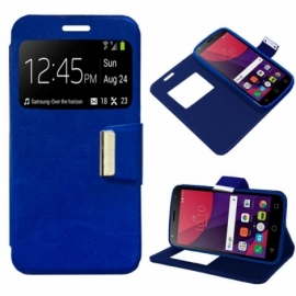 Bolsa Flip Cover Alcatel Pixi 4 (5) 4G / Smart 7 Turbo Liso Azul