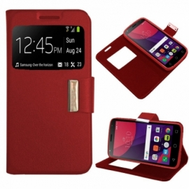 Bolsa Flip Cover Alcatel Pixi 4 (5) 4G / Smart 7 Turbo Liso Vermelha