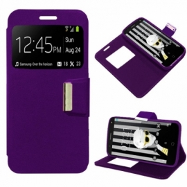 Bolsa Flip Cover Alcatel Pop 4 (5) Liso Violeta