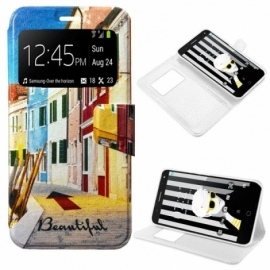 Bolsa Flip Cover Alcatel Pop 4 Plus Desenhos City