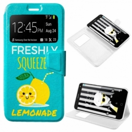 Bolsa Flip Cover Alcatel Pop 4 Plus Desenhos Lemonade