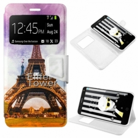 Bolsa Flip Cover Alcatel Pop 4 Plus Desenhos Paris