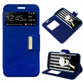 Bolsa Flip Cover Alcatel Pop 4 Plus Liso Azul