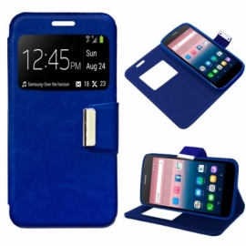 Bolsa Flip Cover Alcatel Pop Up Liso Azul