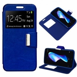 Bolsa Flip Cover BQ Aquaris V Plus / VS Plus Liso Azul