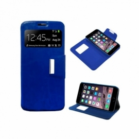 Bolsa Flip Cover iPhone 6 Plus / 6s Plus Liso Azul
