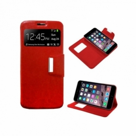 Bolsa Flip Cover iPhone 6 Plus / 6s Plus Liso Vermelha