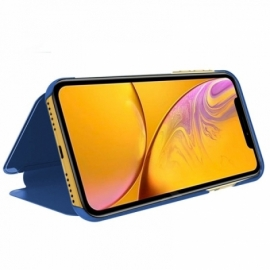 Bolsa Flip Cover iPhone XR Clear View Azul