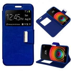 Bolsa Flip Cover LG X Power Liso Azul