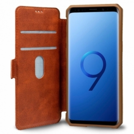 Bolsa Flip Cover Samsung G960 Galaxy S9 Leather Marrom
