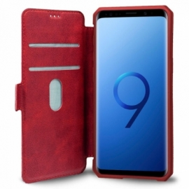 Bolsa Flip Cover Samsung G960 Galaxy S9 Leather Vermelha
