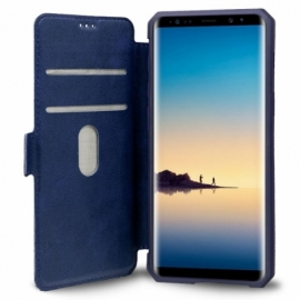 Bolsa Flip Cover Samsung N950 Galaxy Note 8 Leather Azul