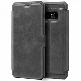 Bolsa Flip Cover Samsung N950 Galaxy Note 8 Leather Cinza