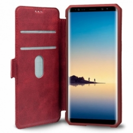 Bolsa Flip Cover Samsung N950 Galaxy Note 8 Leather Vermelha