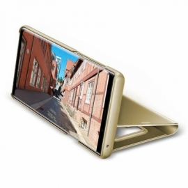 Bolsa Flip Cover Samsung N960 Galaxy Note 9 Clear View Dourado