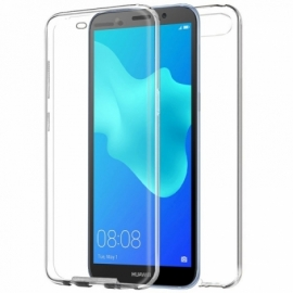"Capa Bolsa Silicone 3D ""Cool"" 360º Huawei Y5 (2018) / Honor 7S (Transparente Frontal + Traseira)"