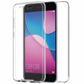 "Capa Bolsa Silicone 3D ""Cool"" 360º Huawei Y6 Pro (2017) (Transparente Frontal + Traseira)"